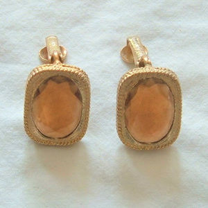 Sarah Cov Vintage 1967 Golden Embers Clip Earring